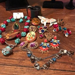 Lot of colorful jewelry